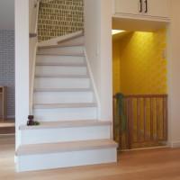 愛犬が回遊できる階段スペース